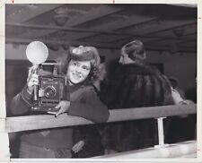 Margaret Bourke-White Photographer Speed Graphic Camera WW2 1939 Classic Photo