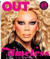 OUT MAGAZINE OCTOBER 2017 25TH ANNIV ISSUE RUPAUL NEW&UNREAD DAY U PAY IT SHIPS