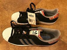 Adidas Superstars 2 CB Black & White Red Bottoms Size 12 mens Shell Toes