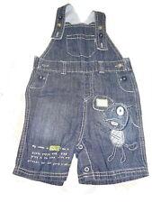 Next tolle kurze Jeans Latzhose Gr. 74 / 80 mit Hunde Motiv !!