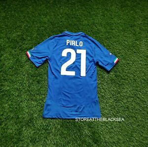 ITALY NATIONAL TEAM 2014 2016 PIRLO PLAYER ISSUE FOOTBALL SOCCER SHIRT JERSEY