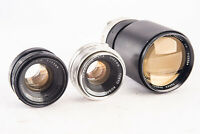 Lot of 3 Vintage Manual Focus UV Topcor Mount Camera Lenses Parts Repair V12