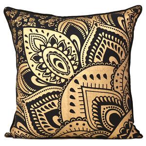 Pillow Case Cushion Cover Home Decor Sofa Throw Pillowcase Gold Printed Cover