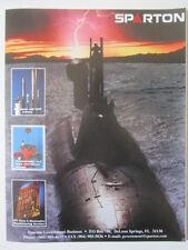 6/2000 ad sparton sonobuoy asw sensors electronics submarine navy original ad