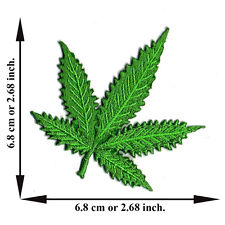 Marijuana Leaf Bob Marley Reggae Rasta Song Weed V10 Applique Iron on Patch Sew