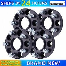 4 Pcs 5x4.5 Black fit 1991-2011 Ford Ranger Hub Centirc 1 inch Wheel Spacers