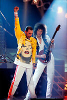 Freddie Mercury Brian May Queen brand new.  tin metal sign MAN CAVE rock n roll