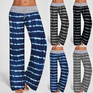 Women Pajama Pants Lightweight Soft Striped Floral Casual Lounge Sleep Bottoms