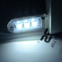 1x Car Interior MINI USB Port LED Lighting Lamps Reading Bulb Night Light White