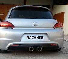 VW Scirocco Heckansatz R32 Look Heckschürze Diffusor R Heckdiffusor