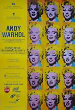 ANDY WARHOL 15 MARILYN ORIGINAL LARGE EX POSTER FIRST ED EXPO ITALY 1995 NMint