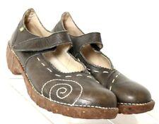 El Naturalista Yggdrasll Grayish Brown Leather Mary Jane EU 40 Women's US 9.5