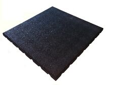 Rubber Playground Tiles - BLACK - Garden Play Area - Climbing Frame & Swings
