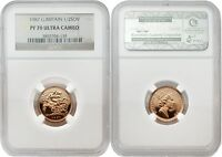 Great Britain 1987 1/2 Sovereign Gold NGC PF-70