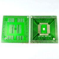 10pcs NEW QFP/EQFP/TQFP/LQFP144/128 SMT to DIP Adapter PCB Board Converter F18A