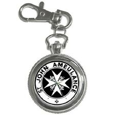 ST. JOHN AMBULANCE ROUND KEYCHAIN WATCH **GREAT GIFT IDEA**