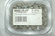 """Prime Line Make-To-Fit  5/16"""" Diecast Screen Clip Adobe PL 16514  tub of 100"""