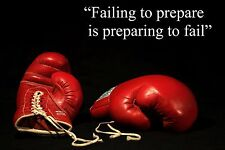 BOXING INSPIRATIONAL MOTIVATIONAL QUOTE POSTER PRINT PICTURE FAILING TO PREPARE