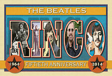 """RINGO"" The Beatles 50th Anniversary-New Large Letter Postcard"