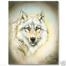 MARTIN KATON WHITE WOLF ORIGINAL OIL ON CANVAS