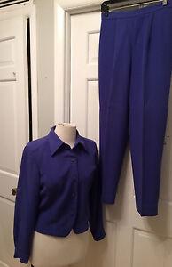 GIANNI  Purple Pant Suit - Pants & Jacket - 10P