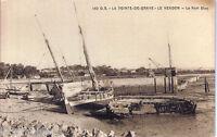 Carte postale, LE VERDON, La pointe de Grave, Le port bloc, écrite au revers