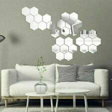 3D Mirror Tiles Mosaic Wall Sticker Self Adhesive Room Art Decal Home Decors Diy