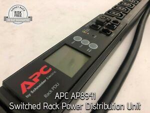 APC AP8941 Switched Rack Power Distribution Unit, Zero U, 30A, 200/208V, AP8941