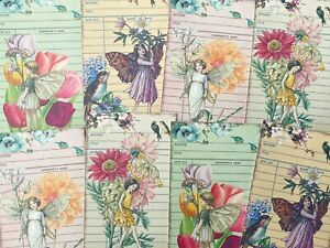 Flower Fairy Card Toppers, Gift Tags Craft Make Your Own Cards Bright Summer