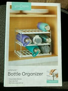 YouCopia UpSpace Water Bottle 3 Shelf Organizer White NEW IN BOX