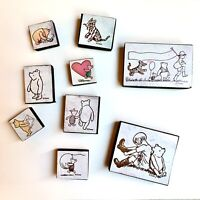 Lot of 9 Vintage All Night Media Disney's Classic Winnie The Pooh Rubber Stamps