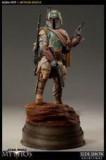 Star Wars Boba Fett Mythos Polystone Statue Sideshow Used JC