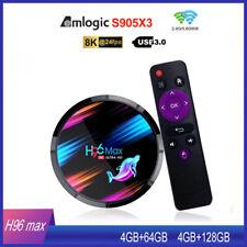 TV BOX H96 MAX X3 8K AMLOGIC S905X3 4GB+64/128GB ANDROID 9.0 4K WIFI Quad Core