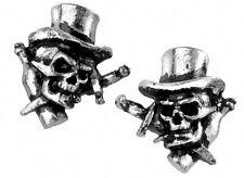 Alchemy Gothic Stud Earrings Live Now Skull Goth Emo Style Pewter Jewellery