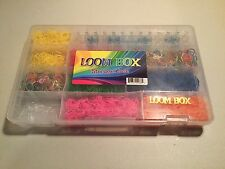 Rainbow Loom with hook and box of Rainbow Loom bands