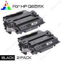 2 Pack Q6511X 11X Toner Cartridge For HP LaserJet 2400 2410 2420 2430 2430dtn