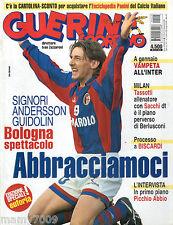 GUERIN SPORTIVO=N°45 1999 ANNO LXXXVIII=COPERTINA CON BEPPE SIGNORI=