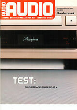 Audio Audio Mai 2001 Prospekt CD-Player Accuphase DP-55 V Werbung B1218