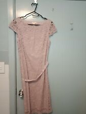 Collette by Collette Dinnigan dusty pink lace dress in size M