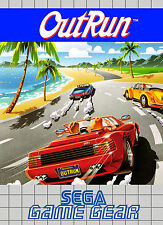 Outrun Sega Game Gear enmarcado impresión (cueva de hombre imagen Cartel Juego De Juego Art Car)