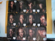 2016 AMC THE WALKING DEAD MAGNETIC METAL CARDS COMPLETE SET (24) SEE PICTURES