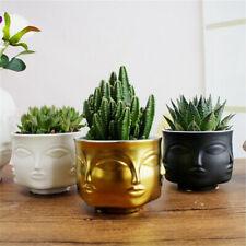 Modern Ceramic Vase Face Flower Pot Head Figure Design Holder Planter  ! ~