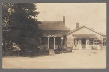 1921 Real Photo Postcard Pamelia, New York Savage's Store Gas Pump in Front