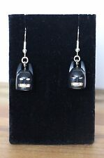 Batman drop dangle Earrings NEW - HANDMADE ITEM stocking filler