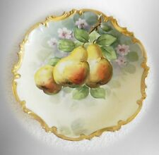 Flambeau Limoges large plate or charger - hand painted fruit design FREE SHIP