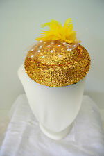 NEW Hair Clip fascinators Melbourne Cup Spring Races wedding fascinator gold
