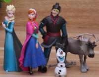 Princess 5pcs/Lot 5-10cm Anna Elsa Action Figures Kristoff Sven Olaf Pvc Model D