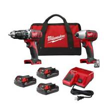 Milwaukee 2697-22CTP M18 Cordless Ergonomic 2-Tool Combo Kit w/ 3 Batteries