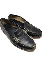 RALPH LAUREN COLLECTION MEN'S BLACK LEATHER LOAFERS, 9.5 D, $595