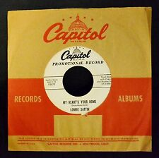 Lonnie Sattin Capitol PROMO 3879 My Heart's Your Home and Ring Around The Moon
